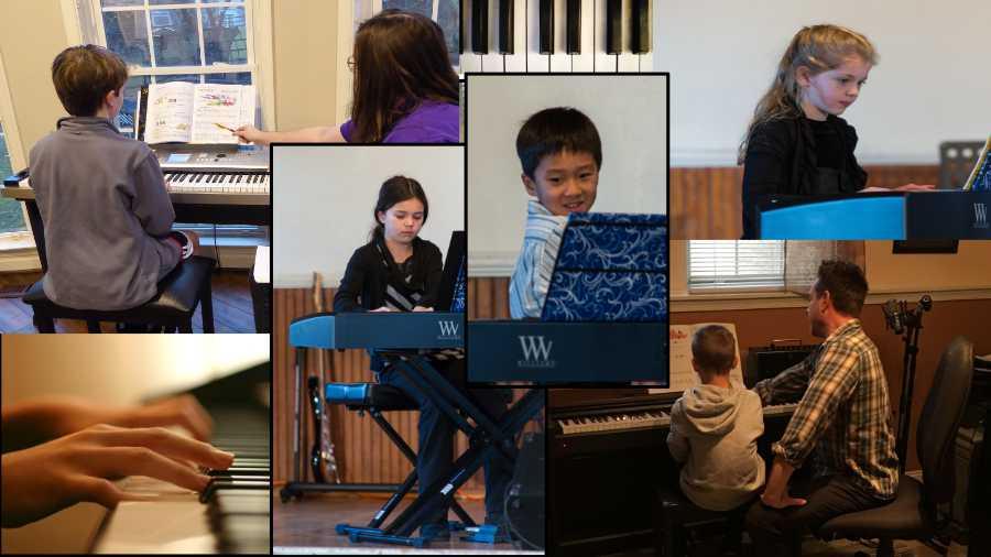 Early Age piano students at Potomac Falls Music