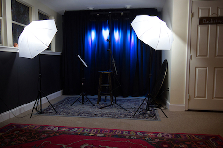 Rehearsal and Filming Stage at Potomac Falls Music Studio